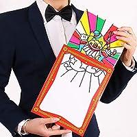 【手品 マジック】クラウン変色カード 色変わるフレーム 不思議なカード 子供マジックおもちゃ 舞台マジック道具 手品道具 (20.5cm×26.5cm)