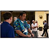 Paul Blart: Mall Cop 2 8x10 Photo Kevin James in Blue Tropical Shirt Being Watched by Man in Blue Shirt kn