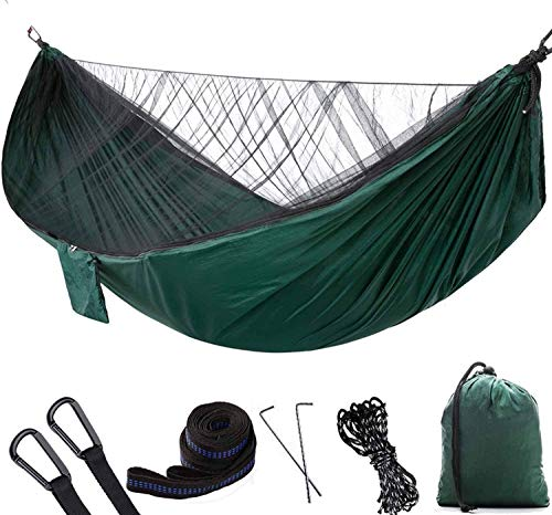 Aiwom-fjb|soft like Camping Hammock Portable Lightweight Double Nylon Hammock With Stand And Canopy Best Parachute Hammock With 2 X Hanging Straps For Backpacking Camping, Travel, Beach, Yard And Gard