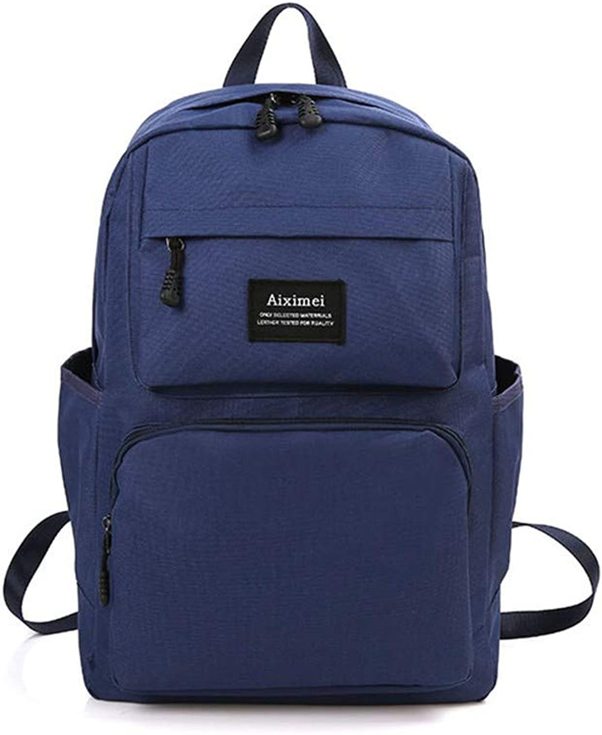 AUULANG Backpack Fashion Backpack Large Capacity Men and Women Backpack Outdoor Leisure Bag, Dark blueee