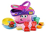 Explore shapes and colours with food pieces Baby toy is suitable for six months and older and includes food items, plates, forks, cups, blanket and basket Lift the basket lid to hear instrumental music and sound effects Musical toy with fun learning ...