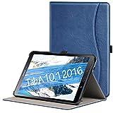 ZtotopCase Hülle für Samsung Galaxy Tab A 10,1 2016,für Modell SM-T580/SM-T585 (Keine S Pen-Version),Leder Geschäftshülle mit Ständer,Auto Schlaf/Aufwach Funktion,Mehrfachwinkel,Navy Blau