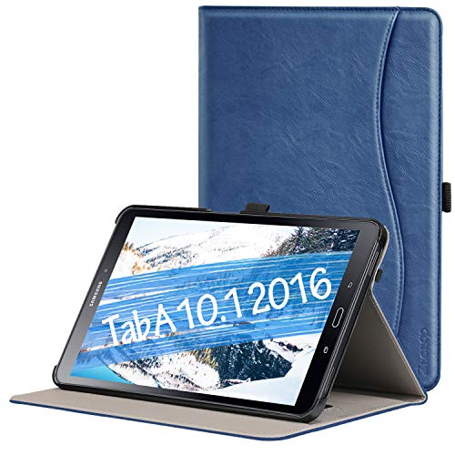 Ztotop Case for Samsung Galaxy Tab A 10.1(2016 NO S Pen Version) - Leather Folio Cover for Samsung 10.1 Inch Tablet SM-T580 T585 with Auto Wake/Sleep and Card Slots, Multiple Viewing Angles,Navy Blue