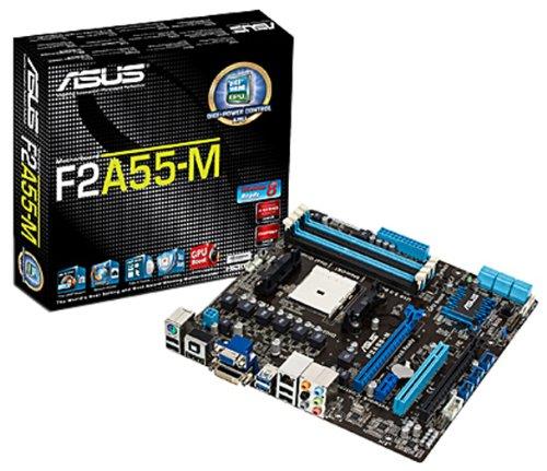 ASUS F2A55-M FM2 Mainboard Sockel FM2 (AMD A55, micro-ATX, 2x DDR3, 6x SATA II, 7.1 Audio, 2x USB 3.0)