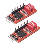 HiLetgo 2pcs PCF8574T IO Extension Module I/O Expansion Shield IIC I2C W/Dip Swith Support Cascading Extended Adpater for Arduino