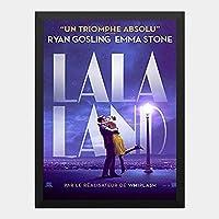 ハンギングペインティング - ララランド La La Land 7のポスター 黒フォトフレーム、ファッション絵画、壁飾り、家族壁画装飾 サイズ:33x24cm(額縁を送る)