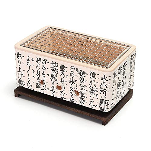DEI QI 4 In 1 japanischer Keramik Hibachi BBQ Table Grill Yakitori Barbecue Holzkohle Mini Grill Bergmeal Figuline Kochherd