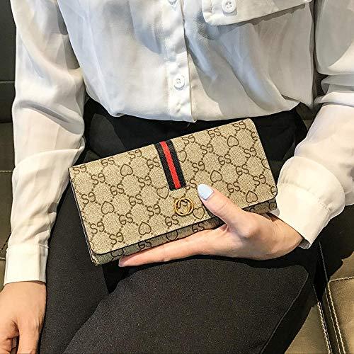 FHISDGN Portemonnee vrouwen portemonnee lange handtas eenvoudige mode ins portemonnee grote capaciteit multifunctionele