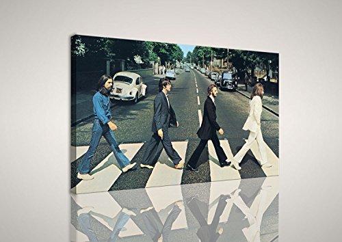 mywalldesign Quadro Moderno Tela Canvas Abbey Road Beatles 100x60 CM