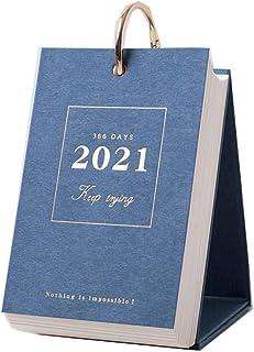 2021 Creative Minimalist Desk Calendar Desktop Shredded Calendar Planner Work Notebook Desk Calendar (Color : C)