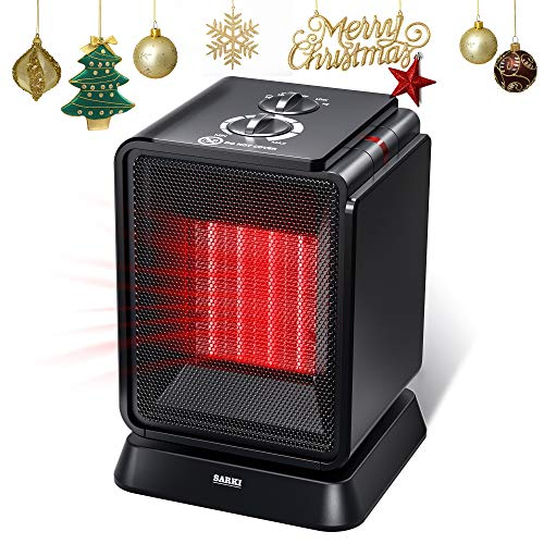 Personal Space Heater, 1500W Electric Ceramic Heater, Portable Mini Heater with Adjustable Thermostat, Oscillation, Tip-Over Protection for Desk Floor Office Home Indoor Use (1500W Mini Heater) Ceramic Heater Space