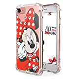 "Logee TPU Minnie Mouse Cute Cartoon Clear Case for iPhone 8/iPhone 7 4.7"",Fun Kawaii Animal Soft Protective Cover,Ultra-Thin Shockproof Funny Creative Character Cases for Kids Teens Girls(iPhone7/8)"