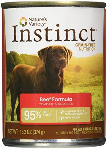 Instinct Comida para Perros Nature's Variety Alimento Húmedo Libre de Granos Formula de Res, Lata de 374 g, 13.2 Oz