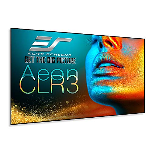 """Elite Screens Aeon CLR 3, 115"""" Diag. 16:9, Edge Free Ceiling Ambient Light Rejecting Fixed Frame Projector Screen, AR115H-CLR3"""