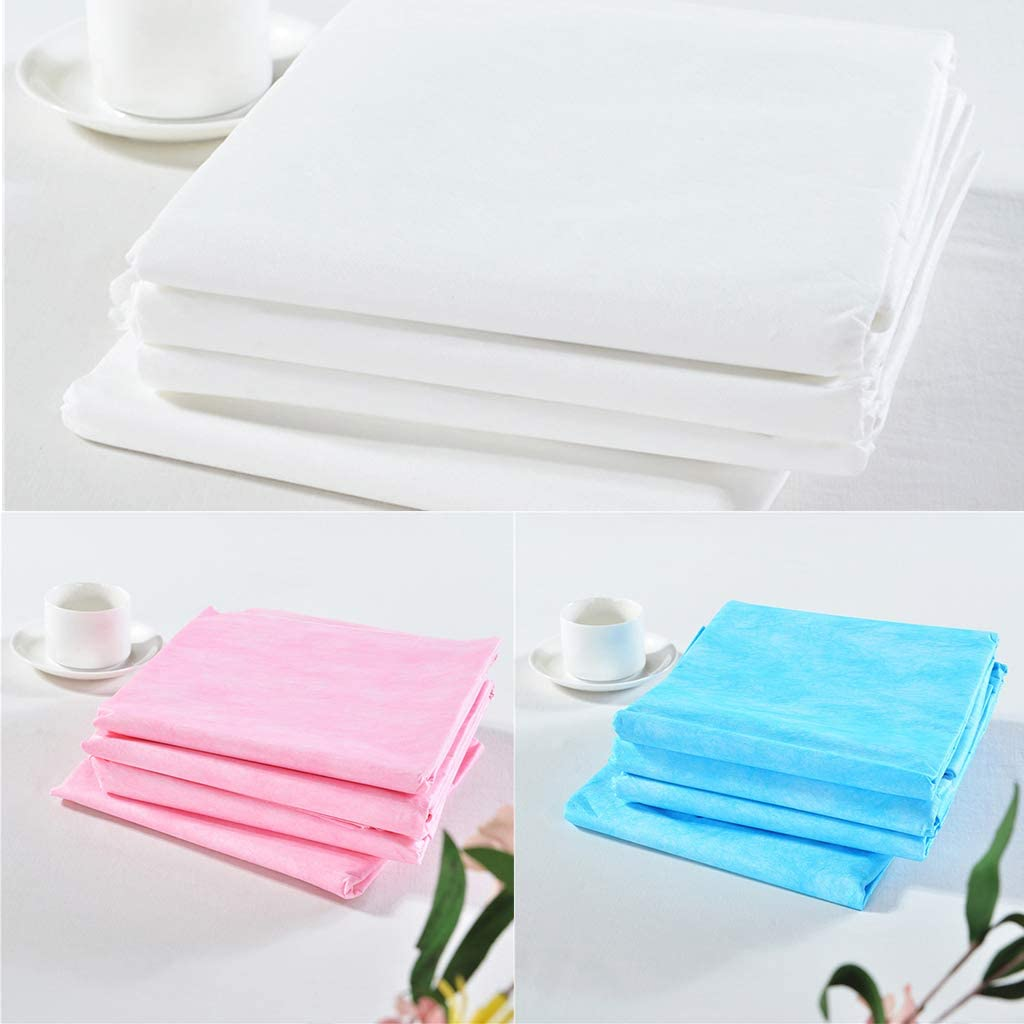 F Fityle 40pcs Blanc Et Rose Imperméable Feuille De Table De Massage Jetable - #3 #1