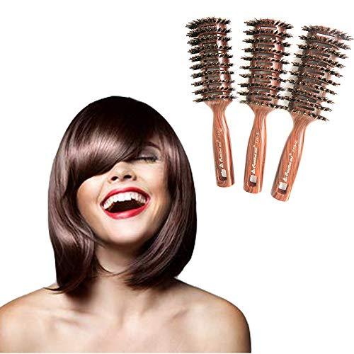 Ribs massage comb Salon Modelling Hair Comb For Men Round Brush Nylon Bristles Hair Brush Travel Hair Brush Vented Hair Combs for Women Hair Brush Qui