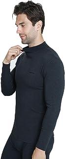 Yamyannie-Clothing Men's Ultra Soft Thermal Underwear Base Layer Long Set (Color : Blue, Size : XXXL)