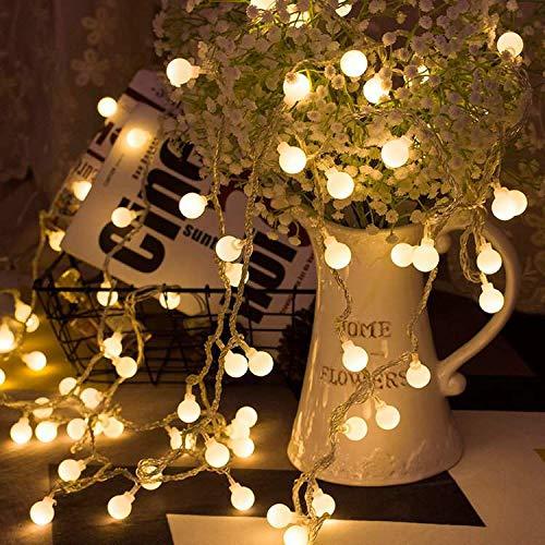 LED イルミネーションライト USB給電 屋外 ジュエリーライト ガーデンライト ワイヤーライト ロープライト 10m リモコン付 タイマー機能 防水 防塵仕様 クリスマス 飾り ストリングライト LINXAS … (USB給電)