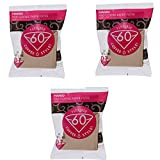 Hario 01 100-Count Coffee Natural Paper Filters, 3-Pack Set (Total of 300 Sheets) (Japan import) by Hario