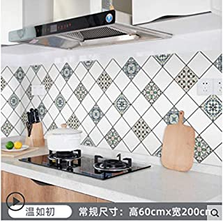 Autocollant mural étanche pour armoire de cuisine carrelée étanche à l'huile pour cuisinière 1