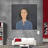 N / A Figura Pintura Lienzo Pintura impresión Moderna Pared Arte Pintura al óleo póster Imagen Obra Sala de Estar decoración del hogar sin Marco 40x40 cm