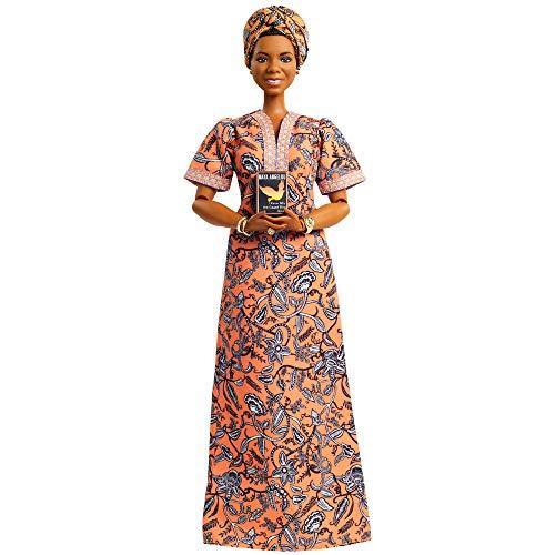 Barbie Signature Colección 'Mujeres que inspiran' Maya Angelou, muñeca de colección (Mattel GXF46)