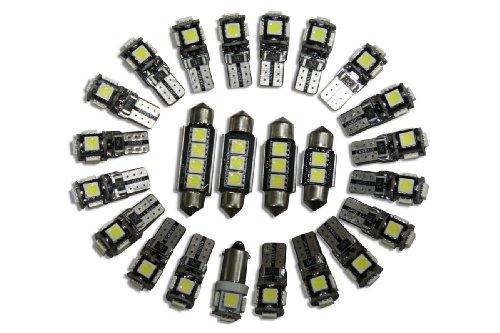 5 ampoules canbus lED's éclairage intérieur (blanc)