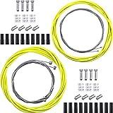 Boao Kit de Línea de Transmisión de Bicicleta Universal Cable de Cambio de Bicicleta y Cable de Freno para Reparación de Bicicleta de Carretera de Montaña (Amarillo)
