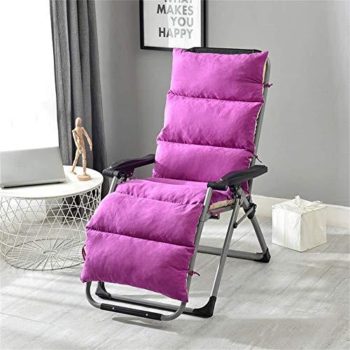 MissZZ Cojín para Tumbona con Lazos Gruesos, Cojines para sillas de jardín Cojín para Asiento Cojín para Silla Mecedora Cojín para Tumbona Patio Balcón-Rosa Rojo 125x50x12cm (49x20x5in)