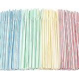 100 pajitas de plástico desechables flexibles para fiestas en el hogar, bares, tiendas de bebidas,...