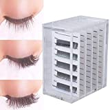 Acrylic False Eyelash Display Container, 5 Layer Storage Box Eyelashes Pallet Holder Grafting Box, Eyelash Transparent Box Extension Tool
