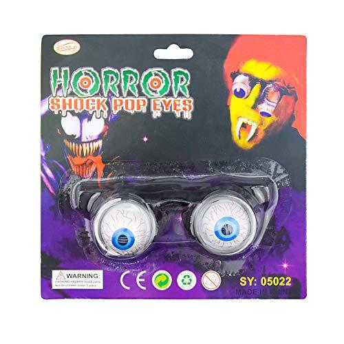 NATEE Horror Schock Pop Augen Frühling Augapfel Brillen Spielzeug Brillen Frühling Augapfel Gläser für Halloween Kostüm Party