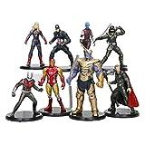 YUNNING Juguetes Vengadores 8pcs/Set The Avengers Endgame Infinity Thanos Iron Man Spider Rman Capitán American Thanos Figura Modelo Juguetes