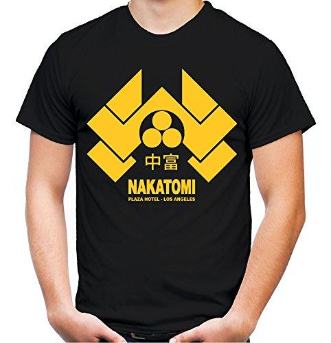 Nakatomi Plaza Männer und Herren T-Shirt   Spruch Stirb Langsam Geschenk (XL, Schwarz)