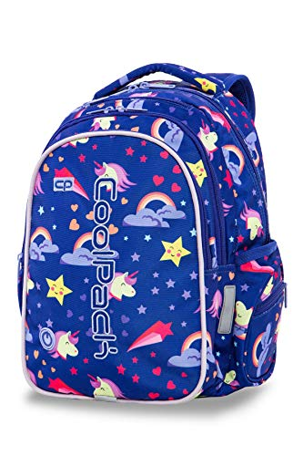 COOLPACK Schulrucksack Kinder-Rucksack mit integriertem LED Licht | USB-Port Kabel 38 x 28 x 18 Mädchen Jungen