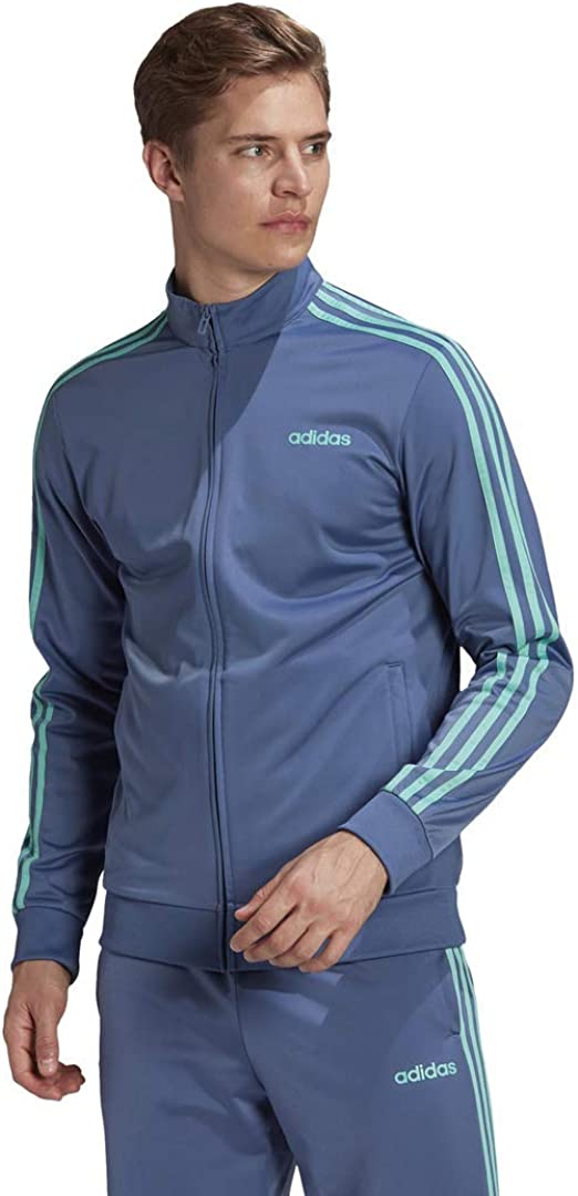 adidas Men's Essentials Weekly update 3-Stripes Tricot El Paso Mall Jacket Track
