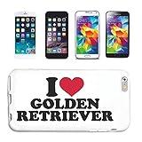 Reifen-Markt Funda para teléfono móvil compatible con Samsung Galaxy S3 Mini, I Love Golden Retriever Labrador raza, cachorro de perro