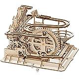 Robotime Murmelbahn Holz 3D Puzzle Erwachsene Kugelbahn Spiel Perpetuum Mobile Mechanische Technik Spielzeug Modell bausatz Kinder ab 14