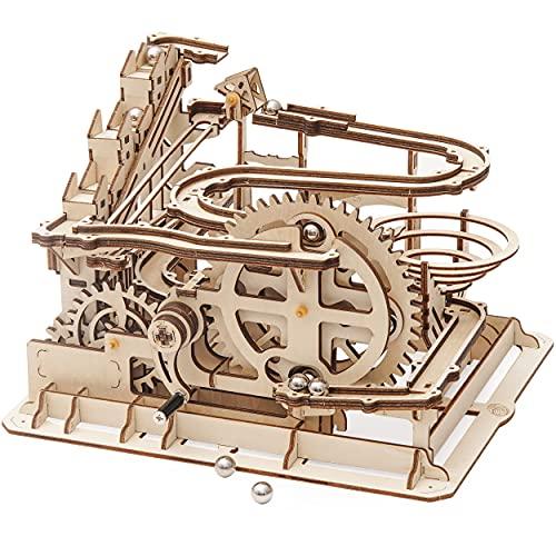 Robotime Laser Cut Puzzle de Madera   Kit de construcción Set Model   Juego de Puzzle en 3D (Waterwheel Coaster)