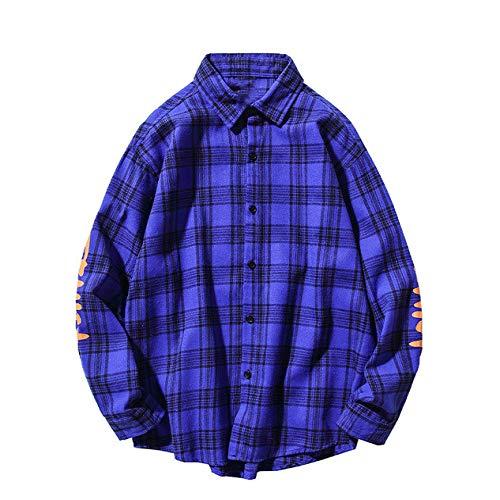 Oscuro icono carta impresión casual camisa de los hombres de franela camisa de los hombres de otoño ropa