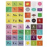 NUOBESTY Tarjetas de Flash Números del Alfabeto Preescolar Tarjetas de Abcs Juguete Inglés Suministros de Aprendizaje Preescolar Juguete para Niños Niños Niños