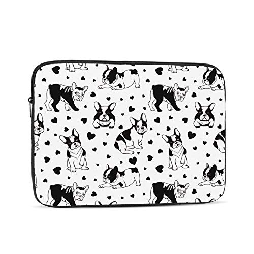 Laptop Computer and Shockproof Bag Computer/Ipad/iPhone Liner Bag Dogs Pattern French Bulldog 12 Inch