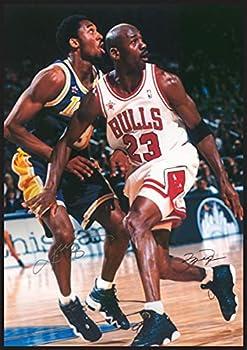 Kobe Bryant and Michael Jordan Signature Moment Poster 24 x 36 Lakers and Bullls