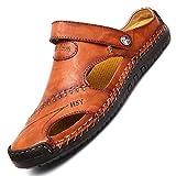xinghui Chanclas para Mujer Zapatos de Verano de Verano de Verano, Sandalias Blandas, Zapatos Casuales de Playa al Aire Libre-Rojo marrón_39