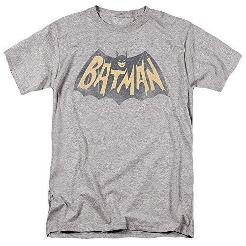 Batman Classic TV Series Show Logo Unisex Adult T Shirt for Men and Women, Athletic Heather, X-Large