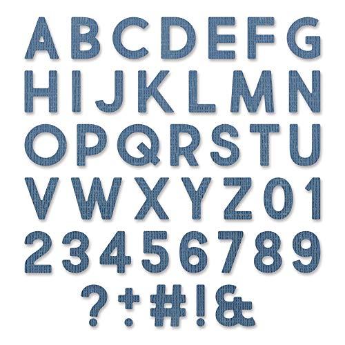 Sizzix 665205 Thinlits Troquel alfanumérico Bold por Tim Holtz (80 unidades)