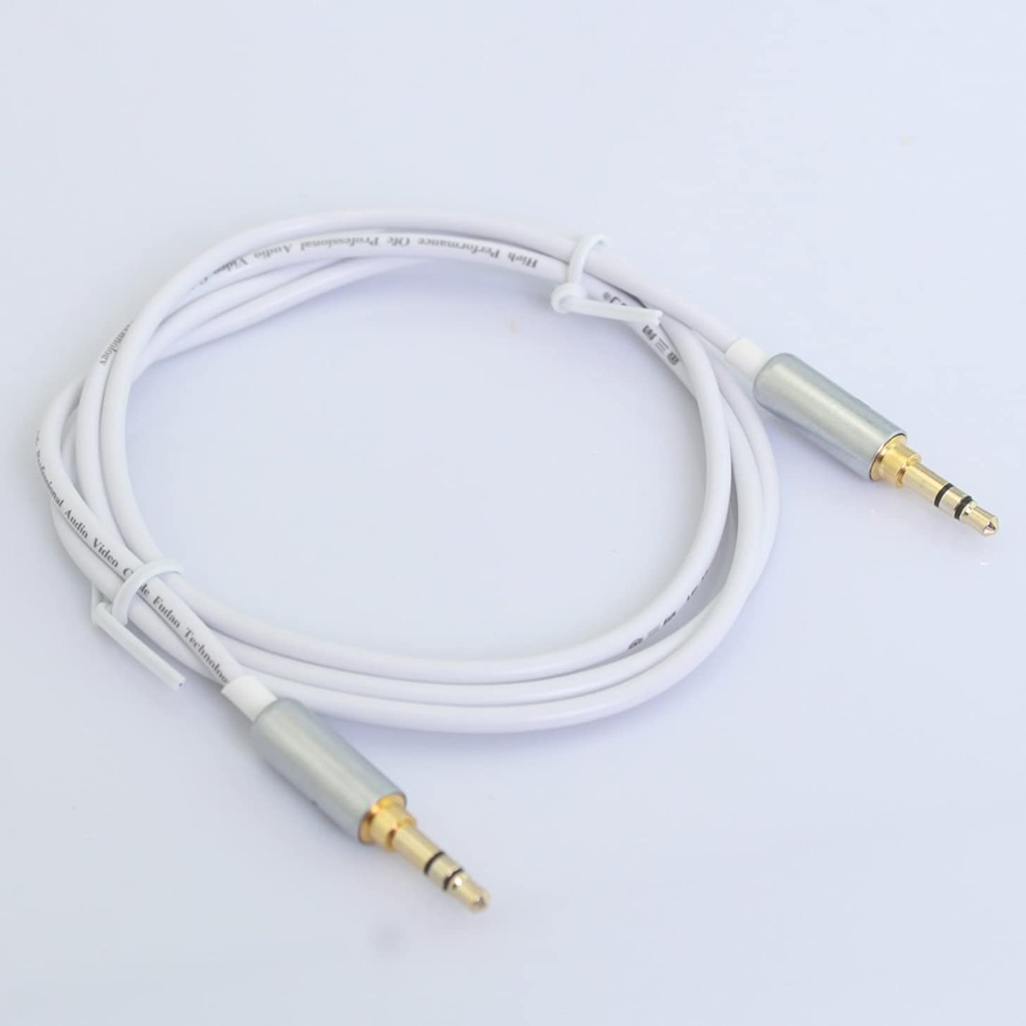 OnlineDo Gold Plated 3.5mm Stereo Audio Male to Male Extension Cable 3.3 Feet / 1 Meter White