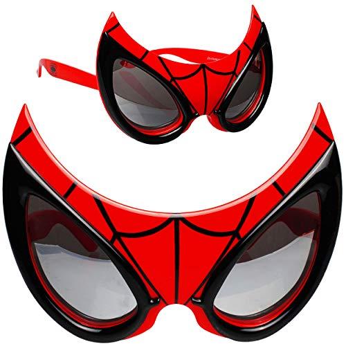 alles-meine.de GmbH 3D Effekt - Sonnenbrille - Spider-Man - 3 bis 12 Jahre - 100 % UV Schutz - UV 400 - polarisiert verspiegelt / extrem stabil - Brille - für Kinder Jungen - Kin..
