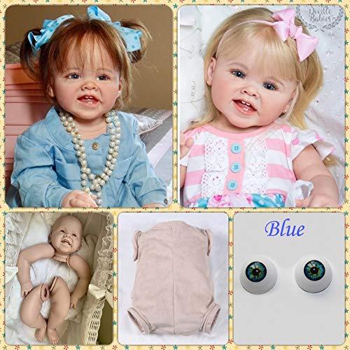 Binxing Toys 70CM Kits de Reborn Toddler Kits de muñecas Reborn en Blanco Que Hacen Suministros Cabeza de Silicona + extremidades Completas + Cuerpo + Ojos