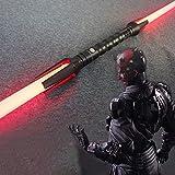 YXCC Sable de luz de Star Wars Sable de luz de Doble Cabeza con Efecto de Sonido Flash de Sable de luz Juguete de Espada de Doble Filo